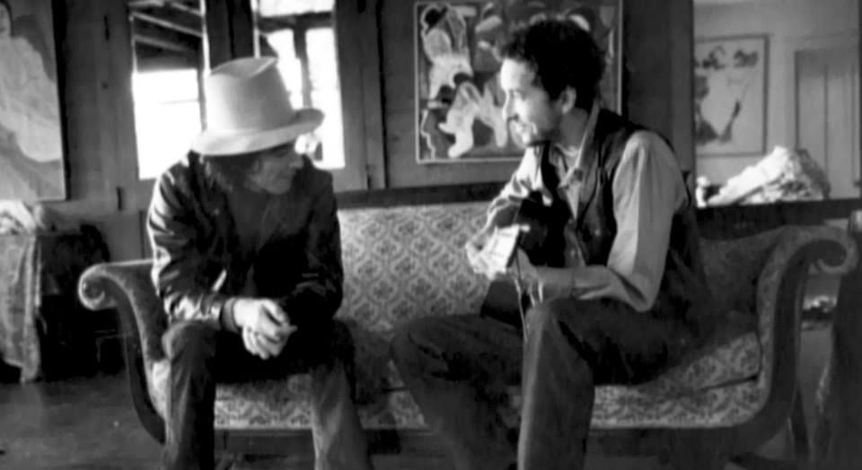 1 George Harrison And Bob Dylan Byrdcliffe Woodstock New York Late November Thanksgiving 1968