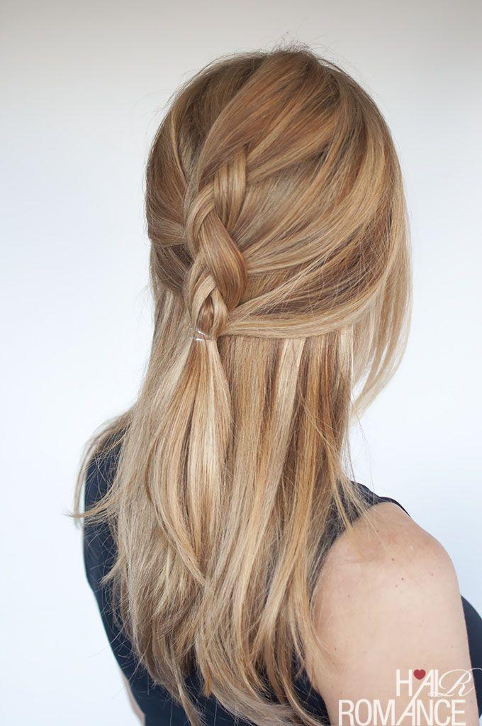 easy everyday hair half up dutch braid tutorial beauty