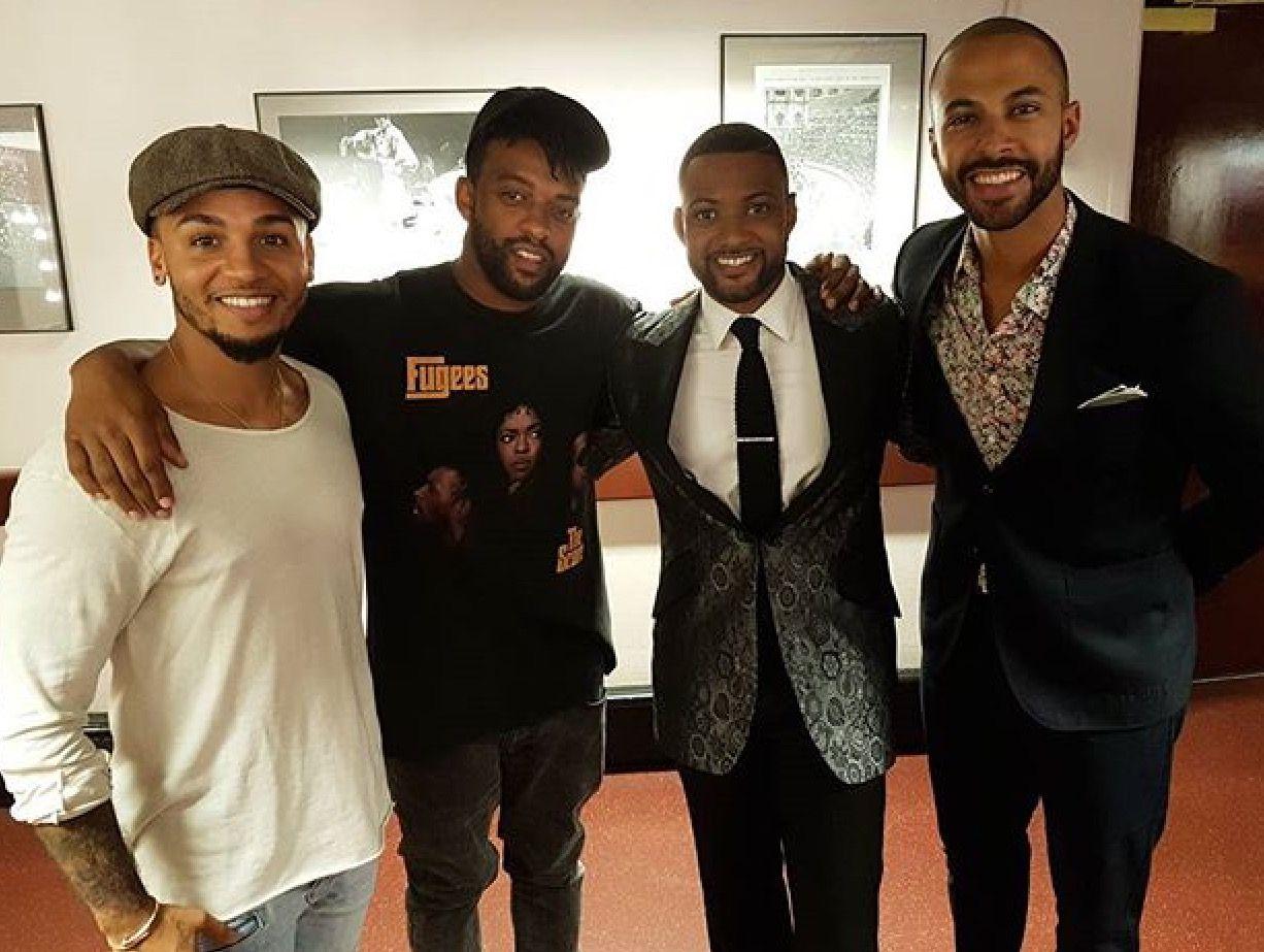JLS boys supporting JB for Songs of Praise ❤️❤️   JLS
