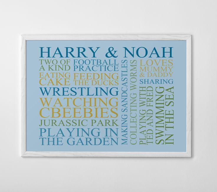 Design your own at www.posterhaste.com #blue #poster #interiors #posterhaste #wordcloud
