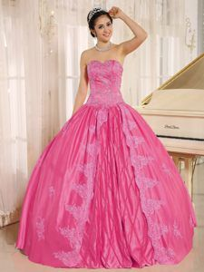 ea4a873ab0 Hot Pink Sweetheart Quinceanera Dress with Embroidery and Beading in 2014
