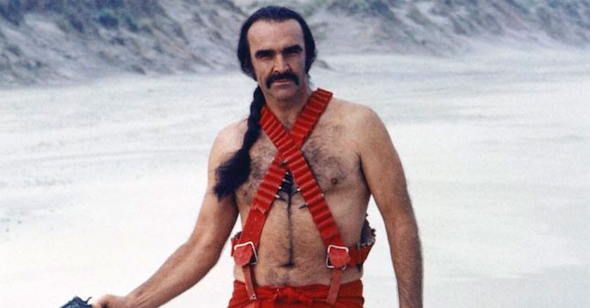 Actor Sean Connery did a little stint (and showed a lot of leg) in the bizarre 1974 science fiction film 'Zardoz.'