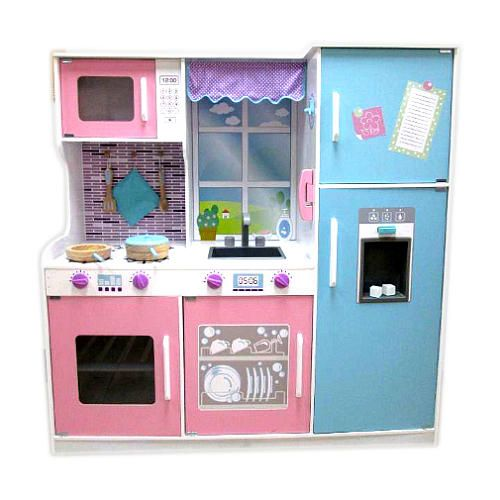 Your Little Homemaker Will Love This All In One Wooden Kitchen Set From Imaginarium This Big Size Kitchen Is Th Wooden Kitchen Set Wooden Kitchen Kitchen Sets