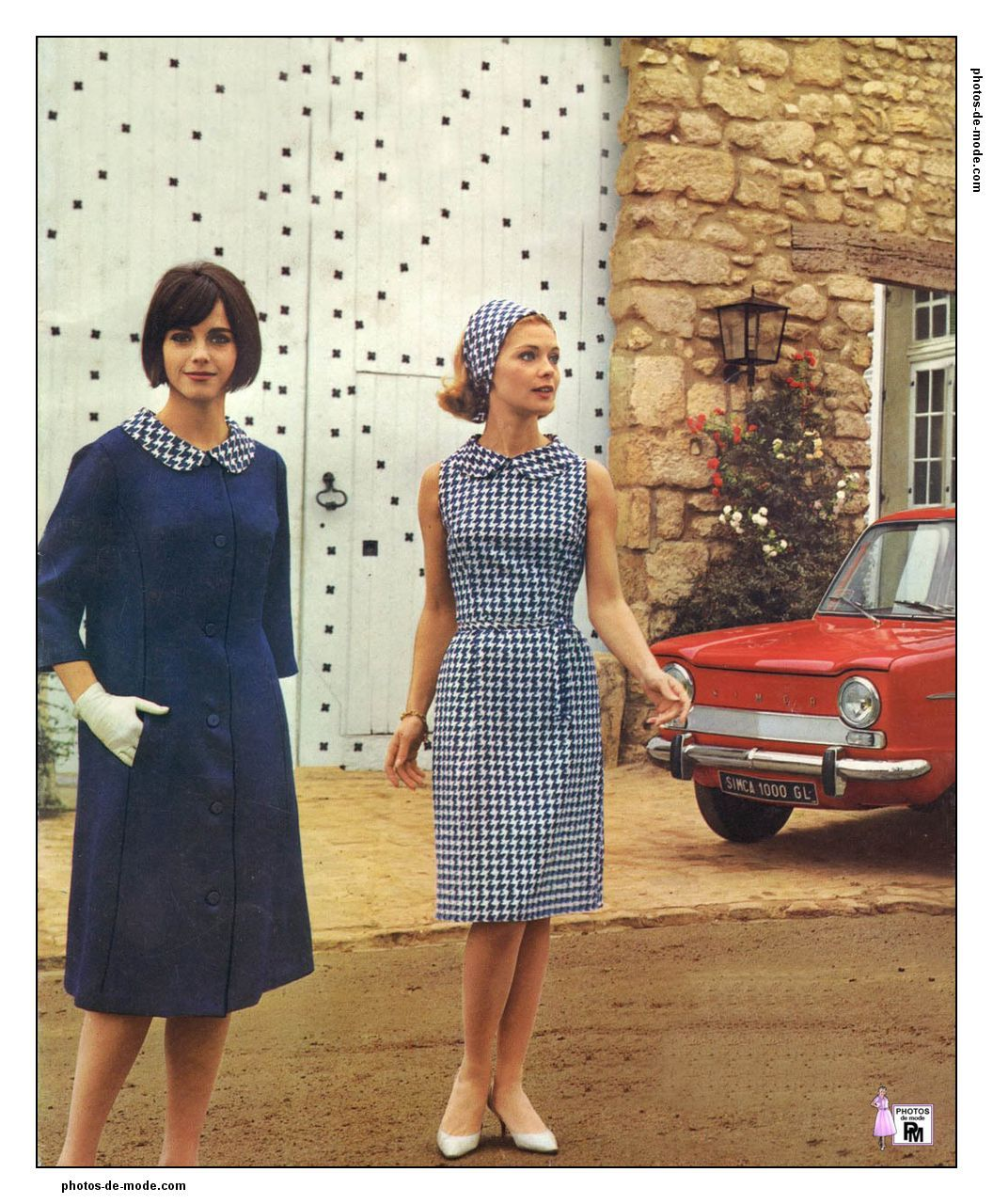 1960s Dresses, Vintage Dresses, Vintage Outfits, 1960s Outfits, Houndstooth  Dress, 1960s f1d411e828b8