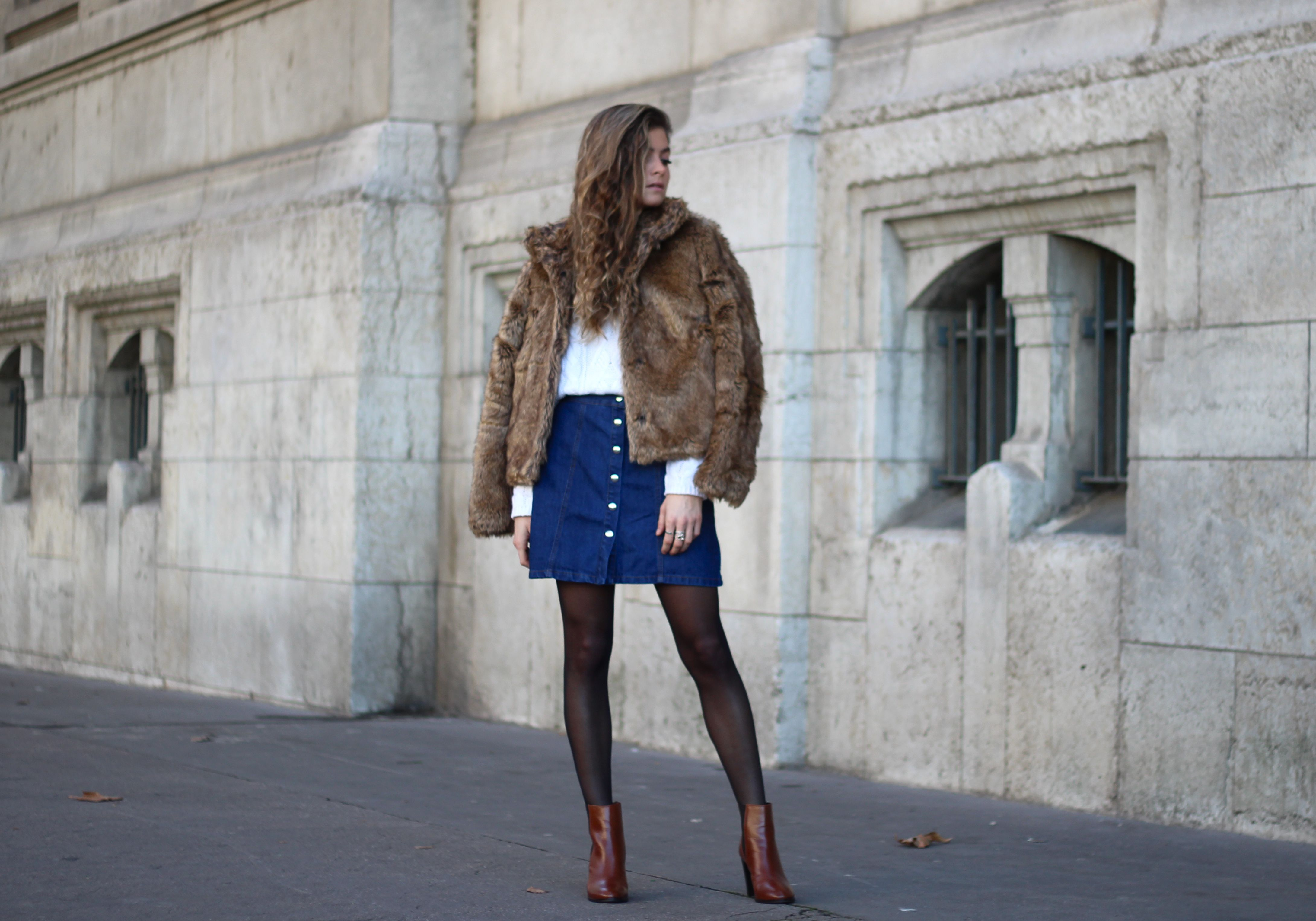 Outfit @marieandmood // Faux fur coat @jennyfer // Winter style