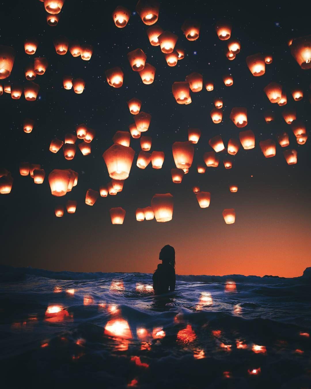 Let Yourself Fall Rizkiw Sky Lanterns Pinterest Photography Art Photography