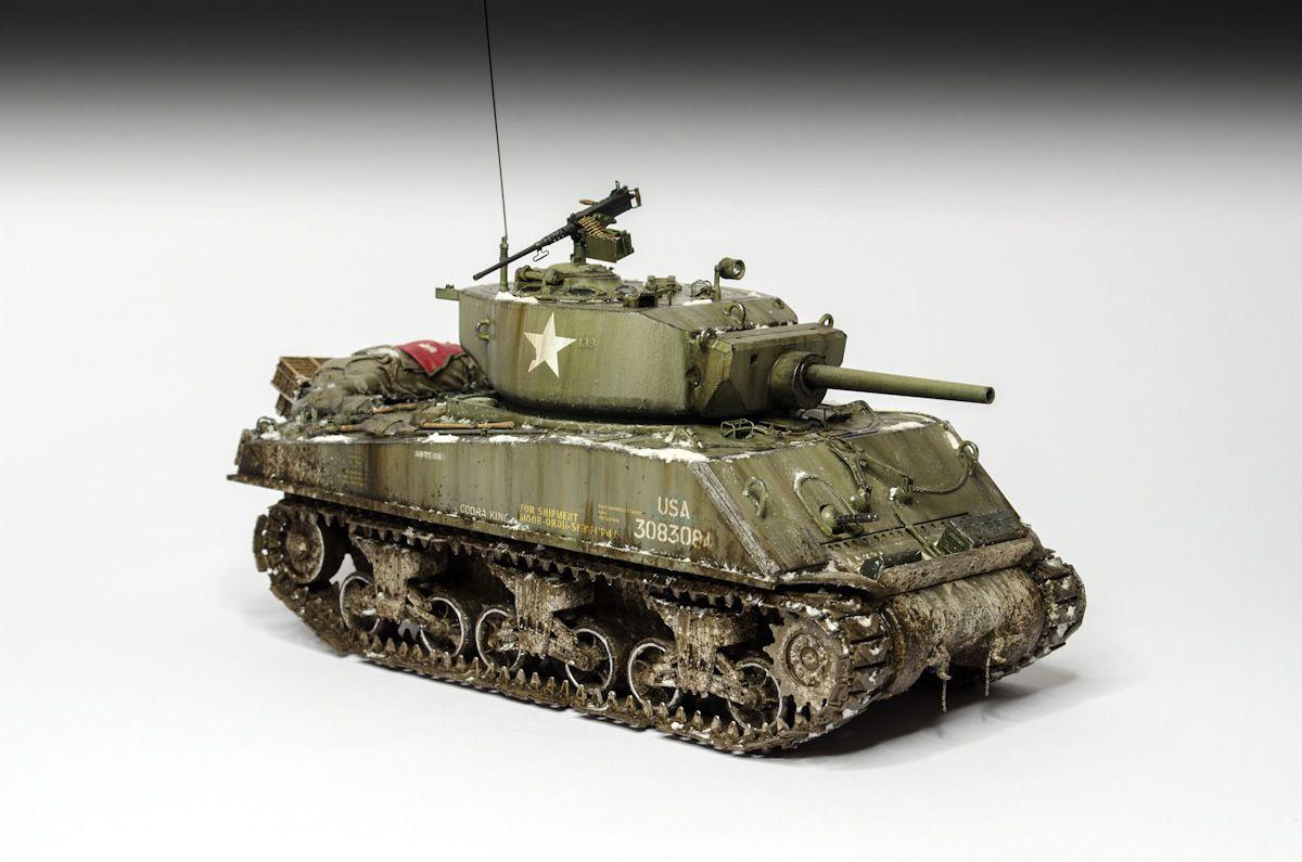 Sherman M4A3E2 Jumbo Cobra King | Sherman, Model tanks