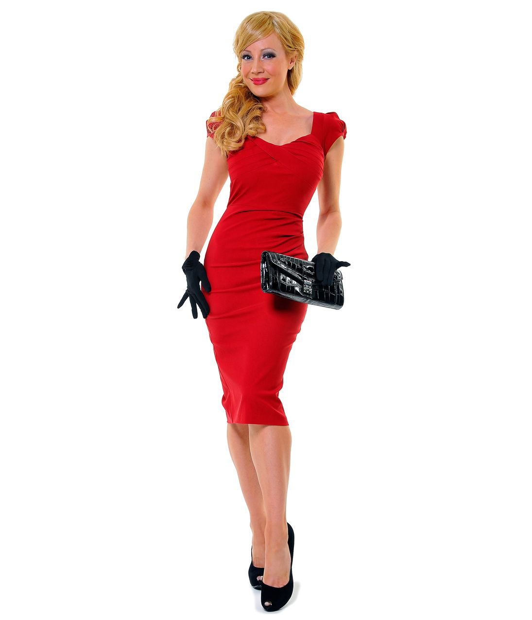 Stop staring us style red billion dollar baby wiggle dress