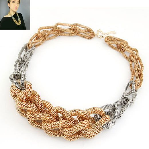 Home temptation weave rope pattern necklace