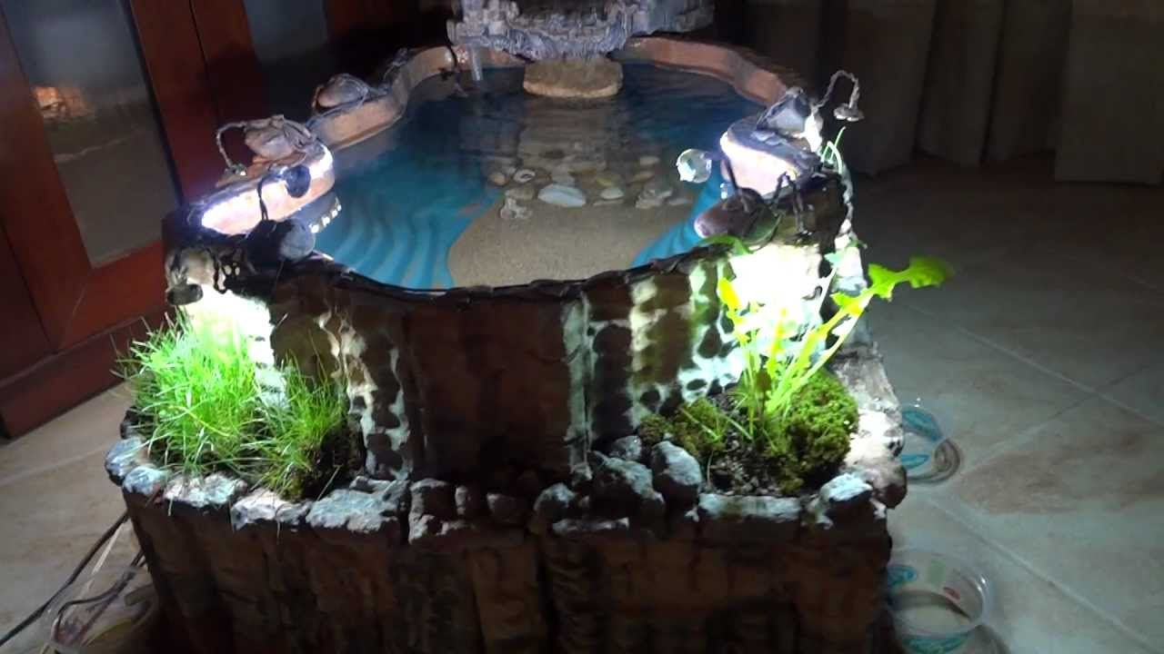 Diy Indoor Pond With Waterfall Indoor Pond Diy Pond Indoor