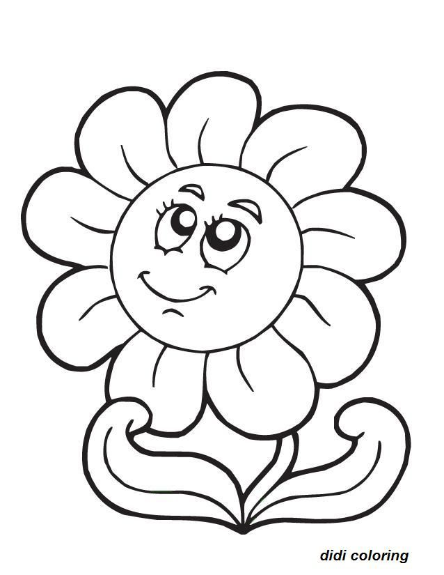 Spring Flower Coloring Pages Printable White Flower Pictures