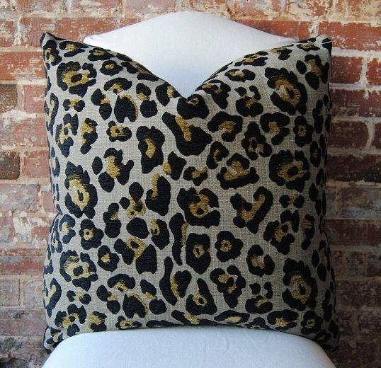 "Leopard Chenille - Pillow Cover size 24"" ."