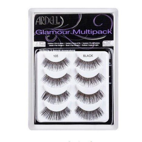Ardell 4pr Natural Glamorous Look Eye Lashes 110 Black *** Click image for more details.