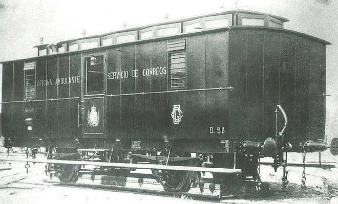 Historias del tren correo el correu pinterest correo for Oficinas de correos zaragoza