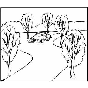 Car On Road Coloring Page Coloring Pages Color Printable Coloring Pages