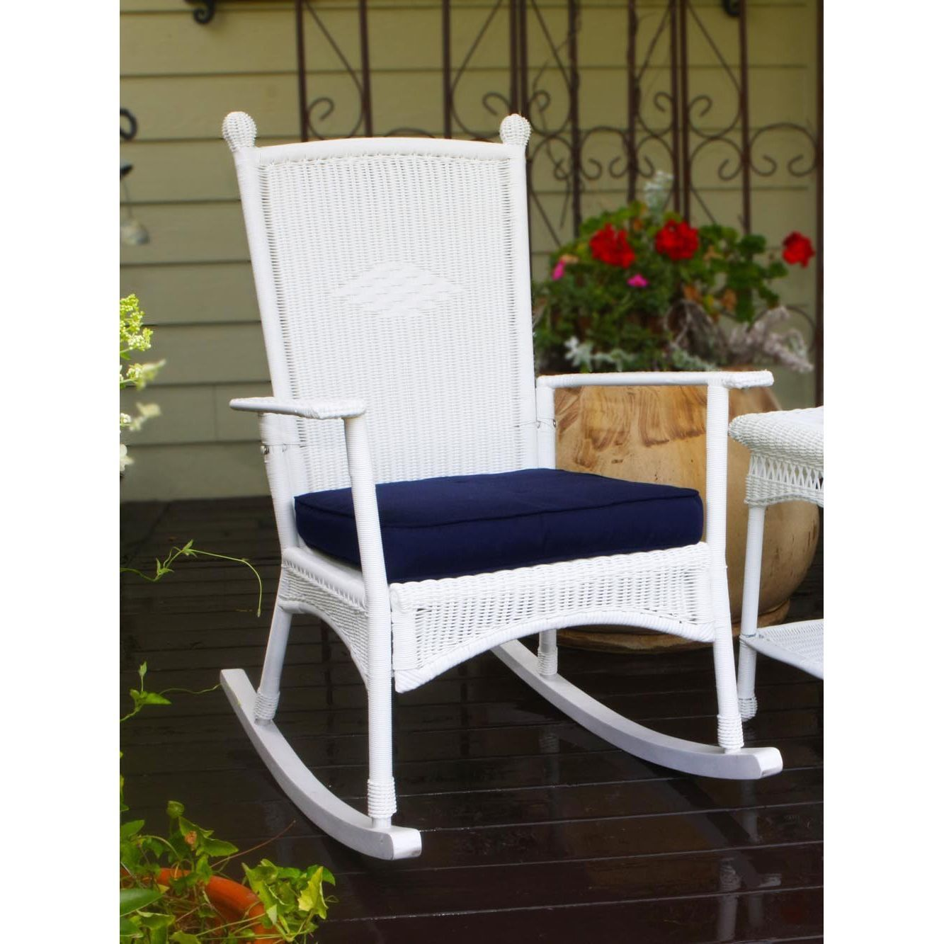 Attrayant Enhance The Look Of Your Porch Or Indoor Living Space With The Tortuga  Outdoor White Classic · Wicker Rocking ChairOutdoor ...