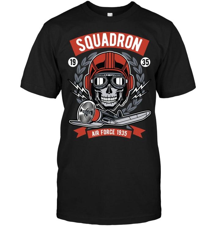 Air Force Squadron Skull T Shirts Skull tshirt, T shirt