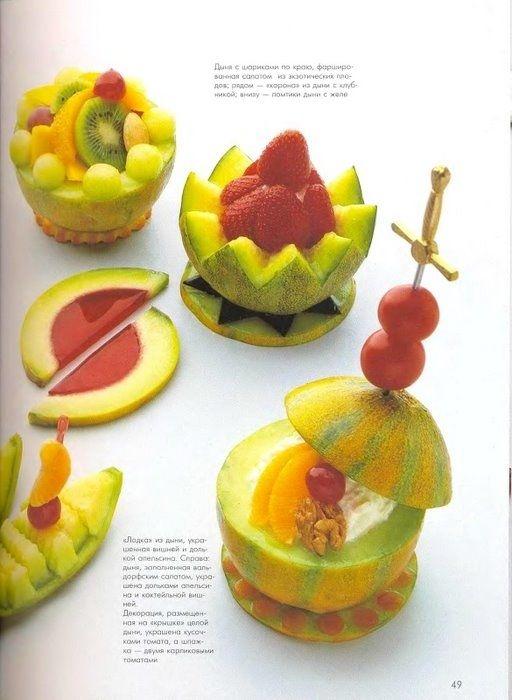 Decoraciones Con Melon Recetas Para Cocinar Comida Original