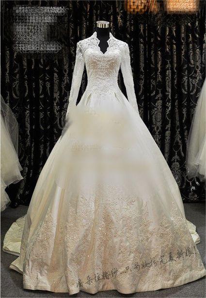 Robe De Mariée Style Kate Middleton Incrustée De Strass