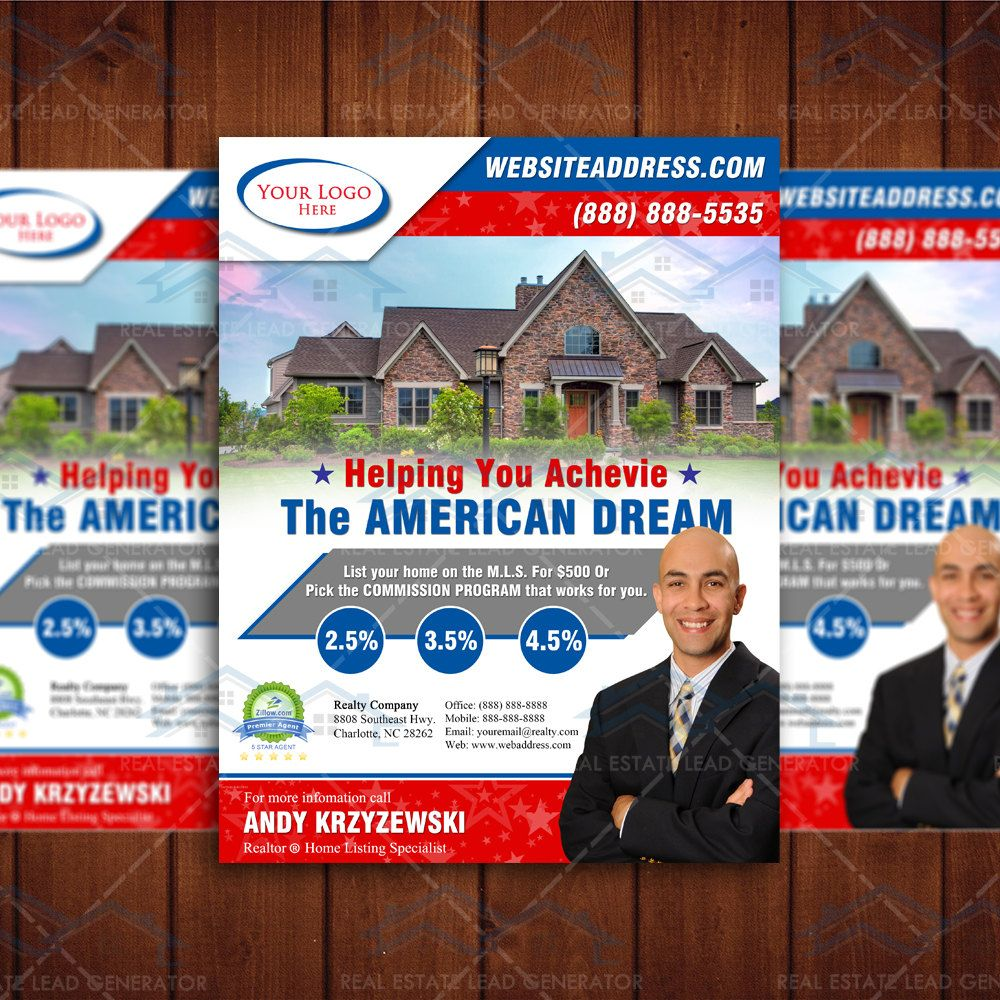 Realtor branding brochure template real estate branding for Craigslist real estate ad templates