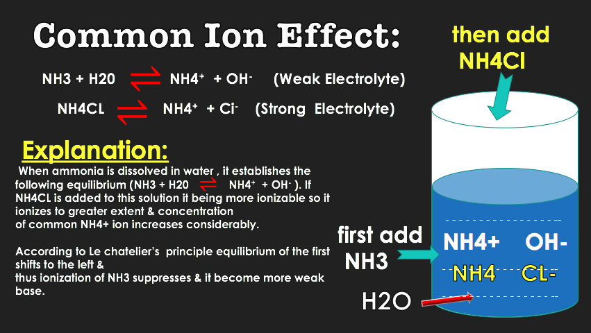 Common Ion Effect Animation Chemistry Ionic Chemistry Free