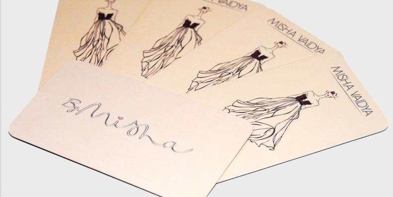 Misha Fashion Designer Business Cards