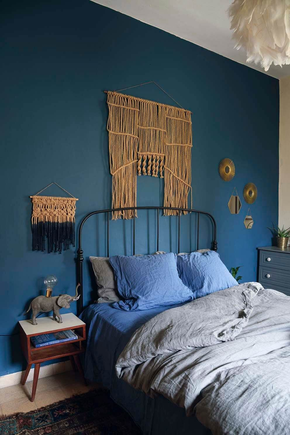 This Is How To Decorate With Blue Walls Blue Bedroom Decor