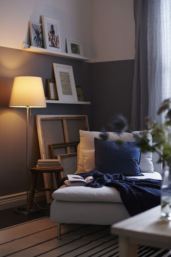 Home is where the corner of the living room is your favorite spot to read, and your favorite photos are hung on the wall. Find IKEA inspiration to design your dream living room.