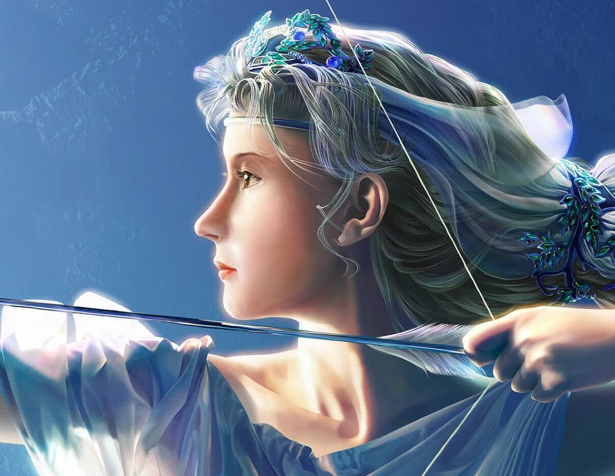 Artemis (detail) by Kagaya