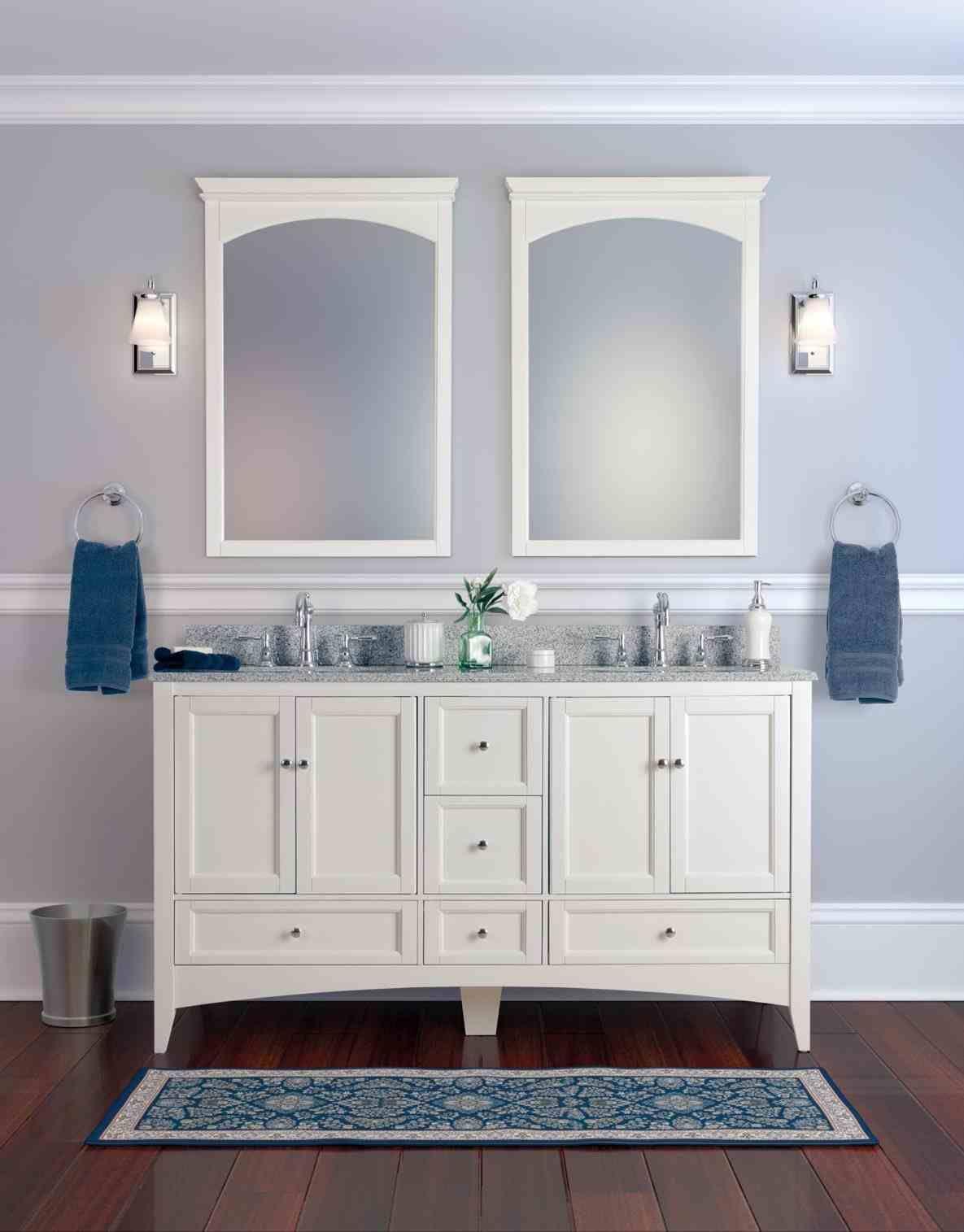 gray bathroom cabinets blue walls | Home Ideas | Pinterest | Grey ...