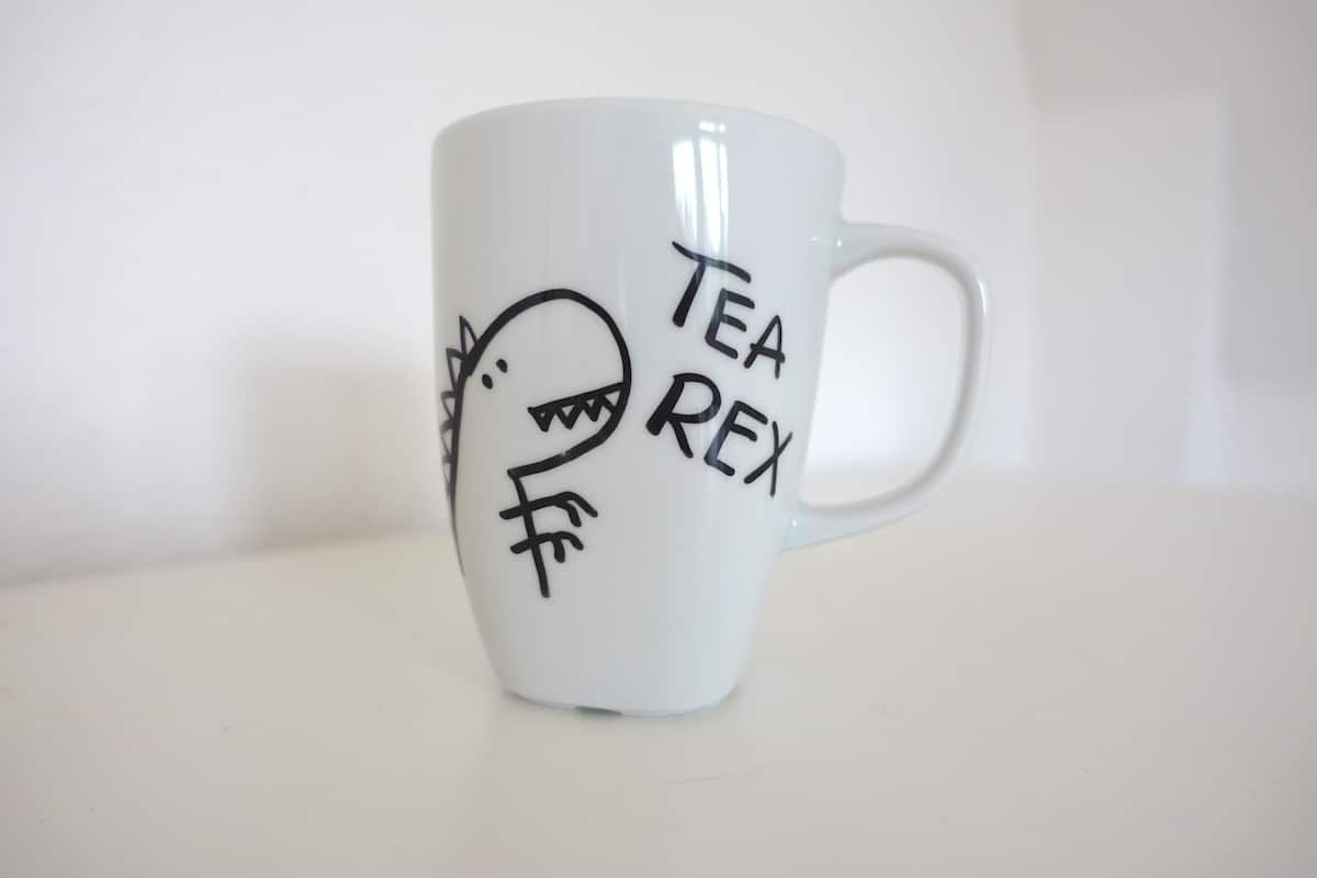 Tipps Ideen Tassen Bemalen Mit Kindern Paintedpottery Tea Rex