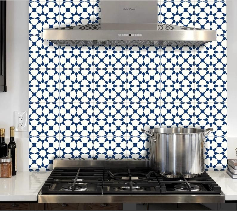 Tile Sticker Kitchen Bath Floor Wall Waterproof Removable Etsy