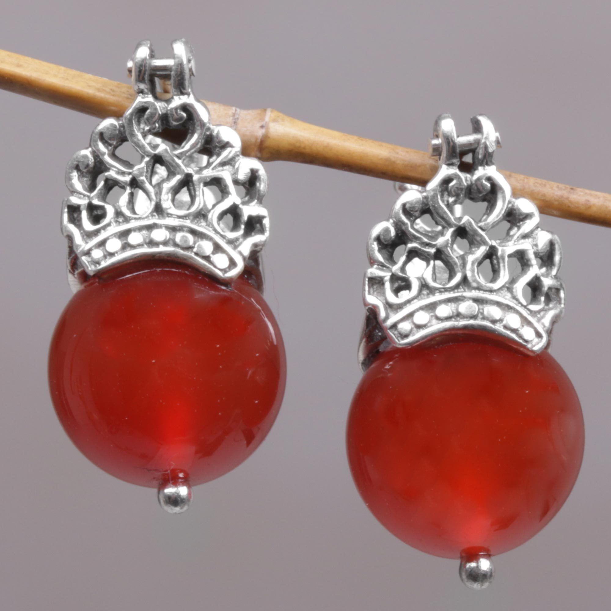 gallery collectiondrop earrings carnelian products primavera guy and gold royle red