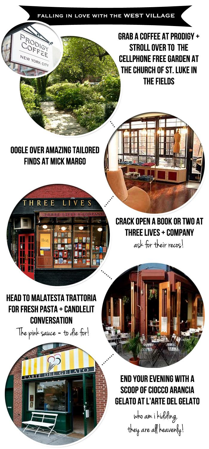 Five on Foot West Village - Love Court+Hudson's NYC neighborhood guides