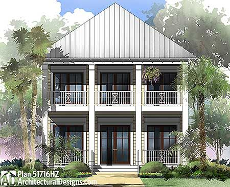 Coastal Cottage With 2 Master Suites Coastal House Plans Beach Style House Plans Cottage House Plans