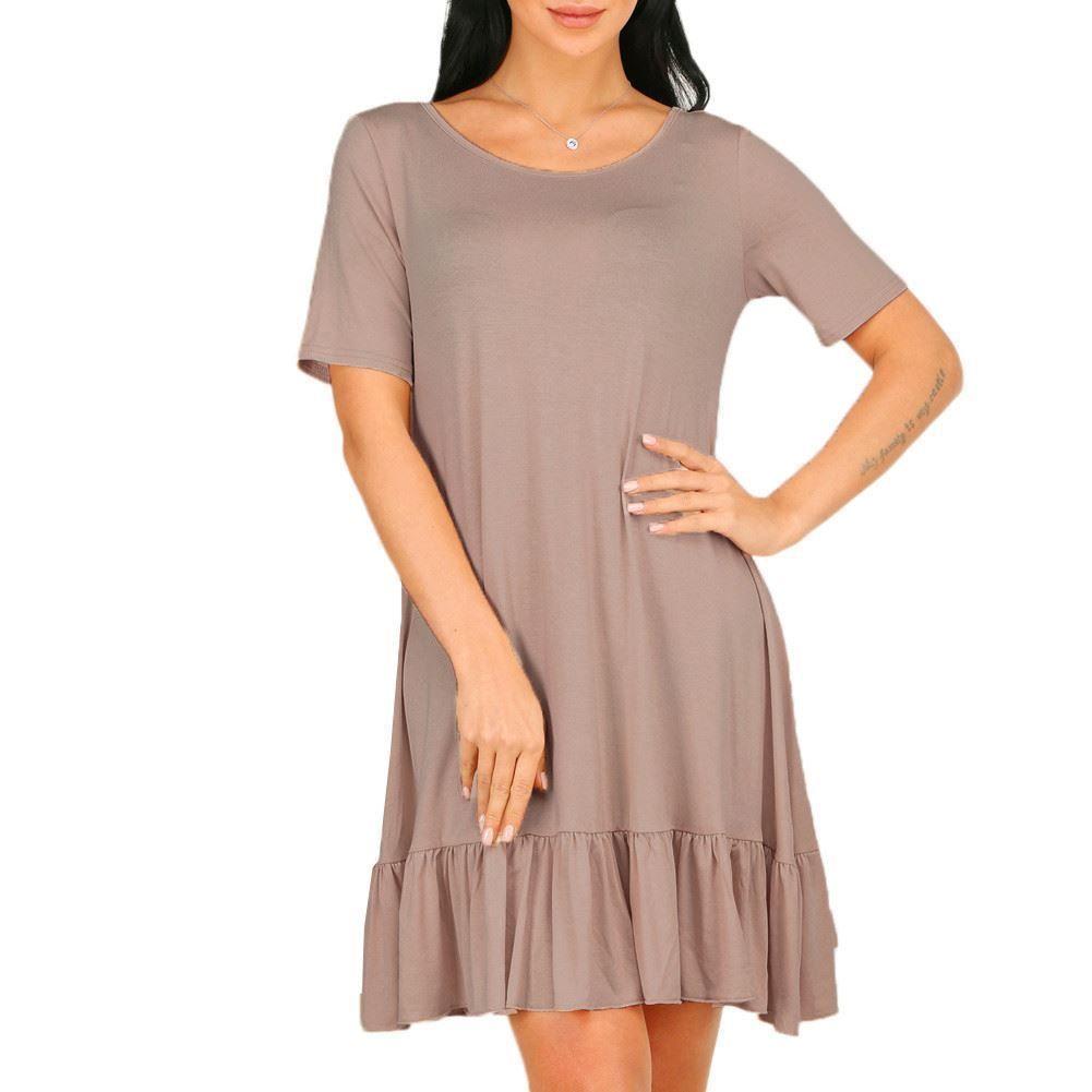 Women plus size short sleeve beach summer pocket casual women t