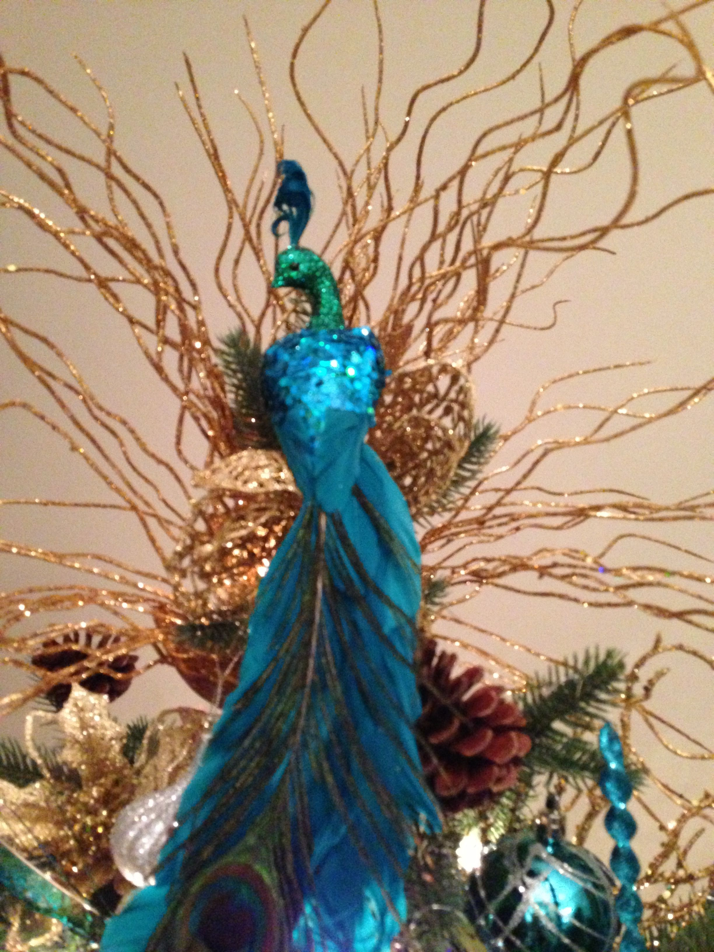 a peacock christmas tree topper alyse do you see this