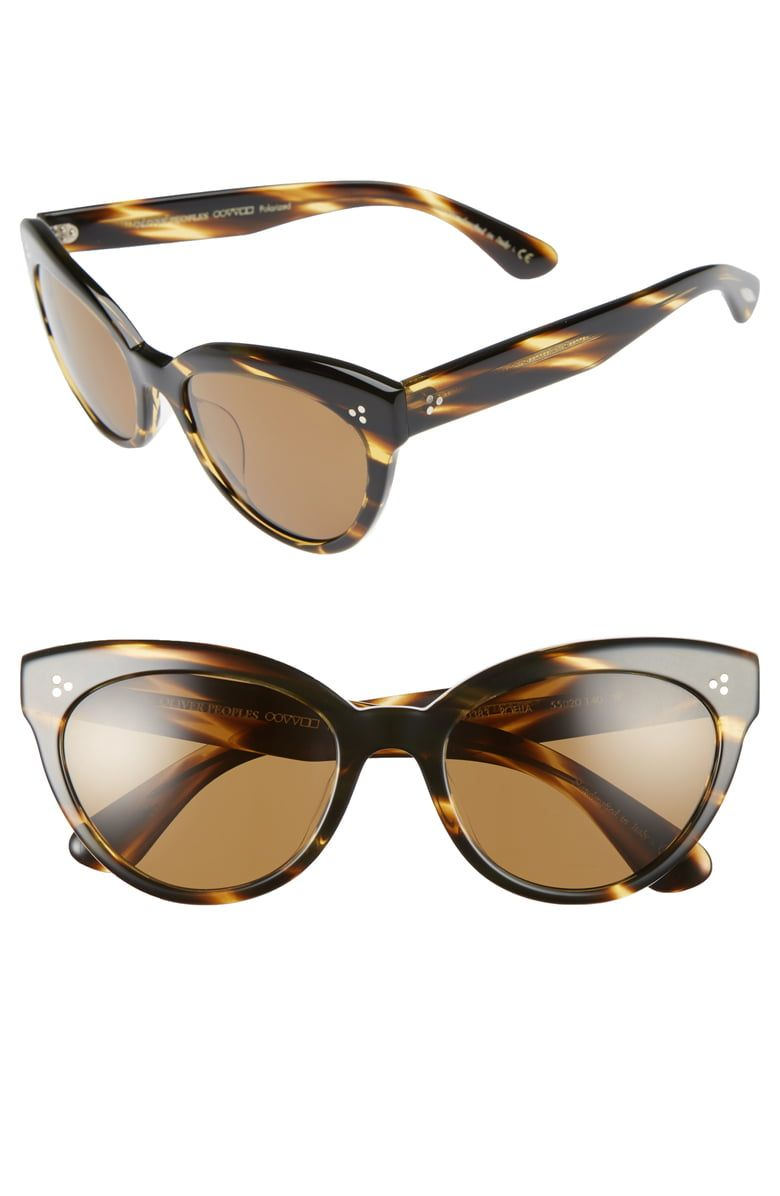 66d7460464255 Free shipping and returns on Oliver Peoples Roella 55mm Polarized Cat Eye Sunglasses  at Nordstrom.