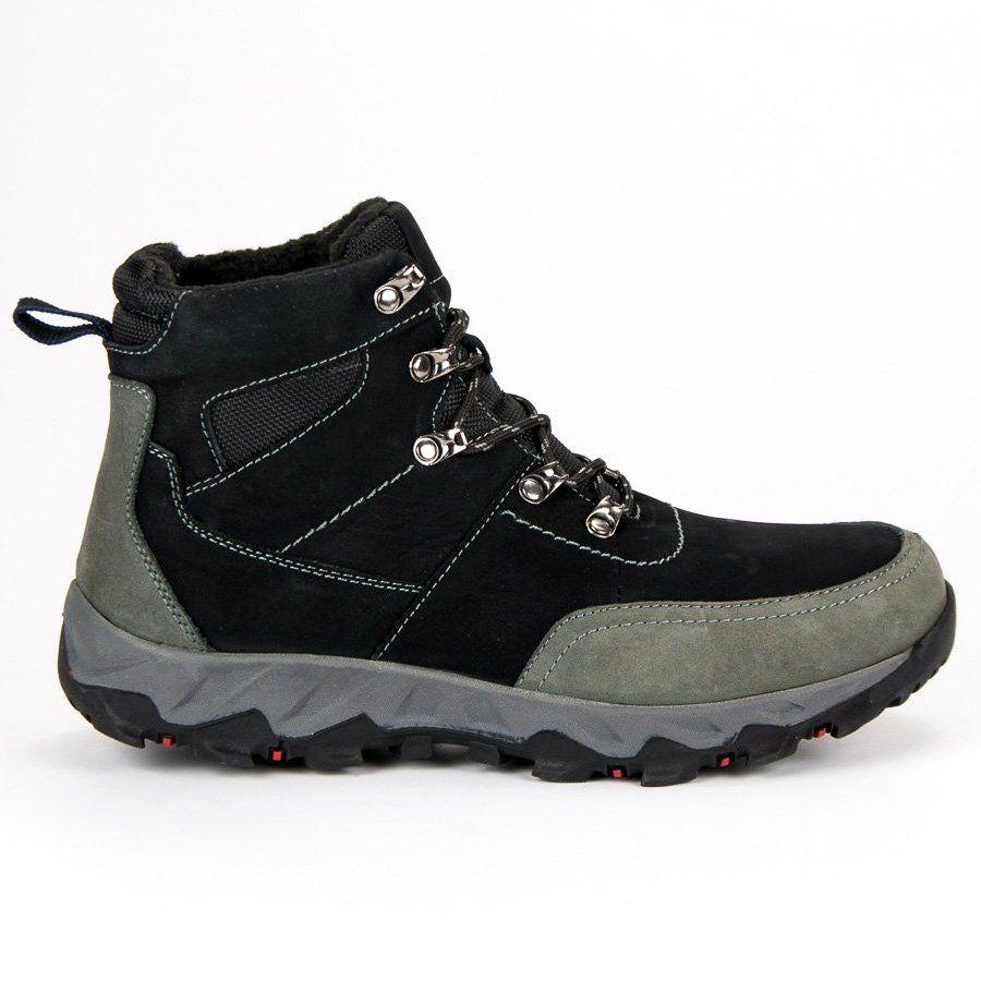 b160903368953 #Trekkingowe #Męskie #OriginalWalkmanShoes #Czarne #Skórzane #Buty  #Trekkingowe #Original