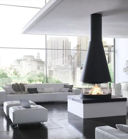 Fa ence fireplace mantel copenaghen by piazzetta for Minimal home mobili