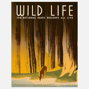 Wildlife WPA 16x20, $32, now featured on Fab.