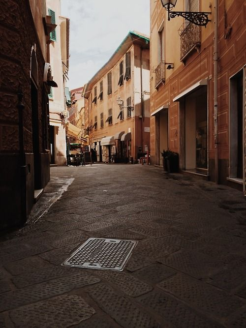 The streets of Sestri Levante, Italy