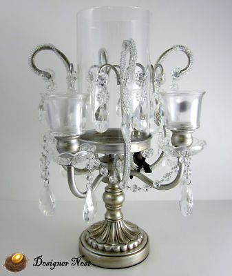 Antique Candle Holders   Silver Antique Style Pillar ... on Antique Style Candle Holder Sconces id=30438