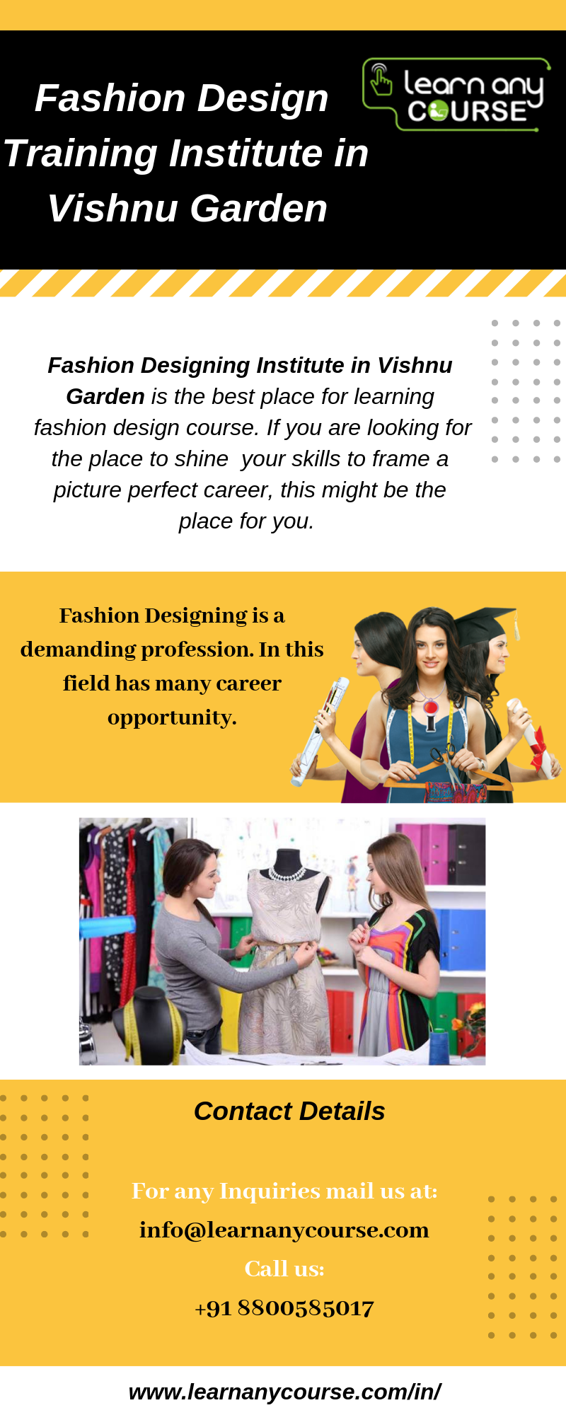 Get The List Of Top Rated Fashion Design Training Institute In Vishnu Garden Which Is Listed By India S Top On Online Education Online Teaching Online Learning