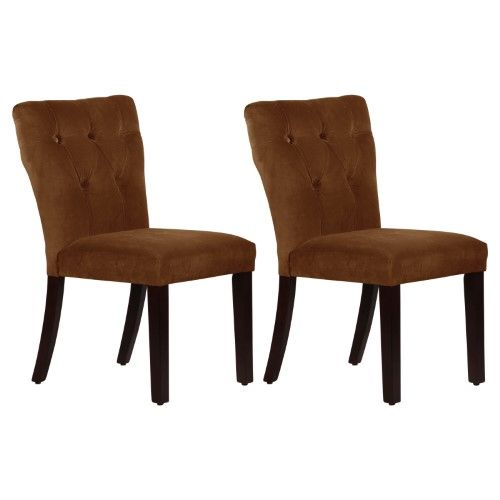 Etonnant Skyline Tufted Hourglass Dining Chair   Set Of 2 | Jet.com