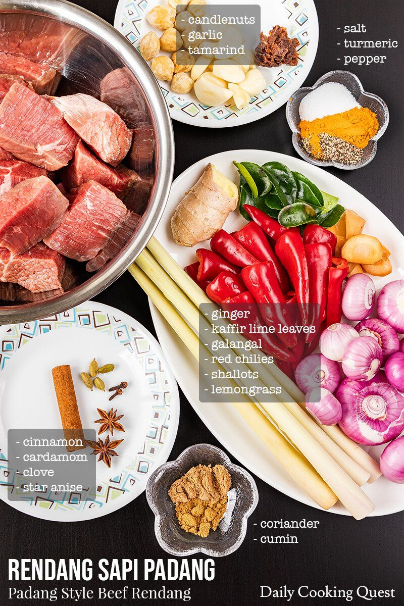 Rendang Sapi Padang Padang Style Beef Rendang Daily Cooking