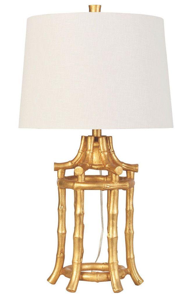 Chinoiserie Gold Bamboo Lamp Lampadari Cineserie Lamps