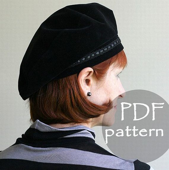 Women Classic Hat Beret PDF Sewing Pattern  S e9d1bac816c