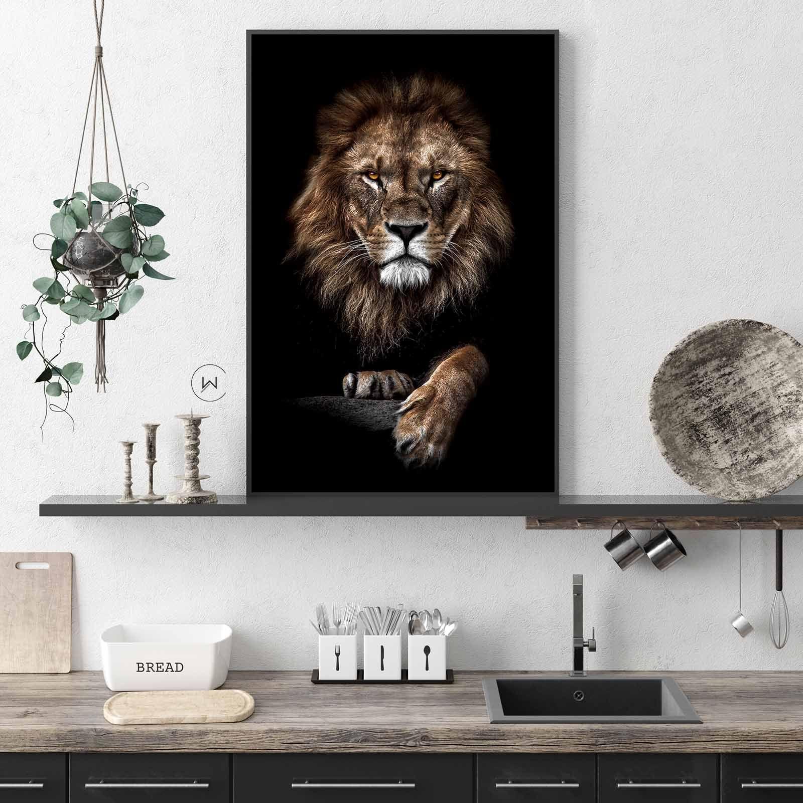 Wanddecoratie Leeuw Voor In De Keuken Dieren Lion Leeuw