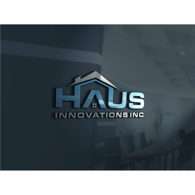 Create a Logo with the name Haus and/or Innovations in the home building/construction industry. by ABU SUJA'